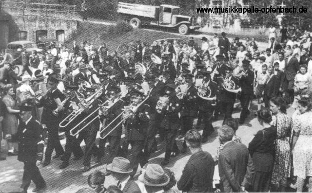 Musikfest 1950 in Opfenbach