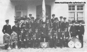 Die Musikkapelle 1949