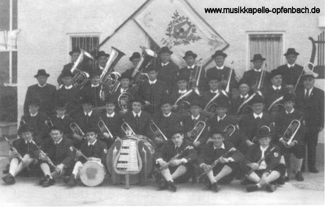 Die Musikkapelle im Jahr 1970