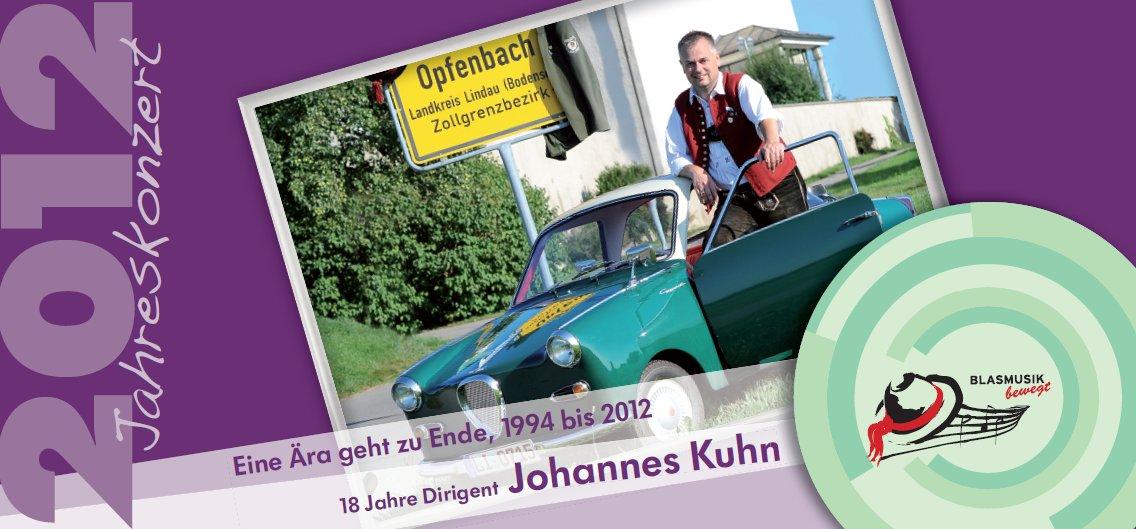 Jahreskonzert 2012 - Eine Ära geht zu Ende