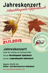 Plakat Jahreskonzert 2015