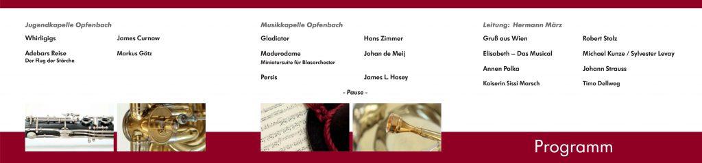 Jahreskonzert 2016 - Programm