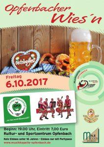 Plakat Opfenbacher Wiesn 2017