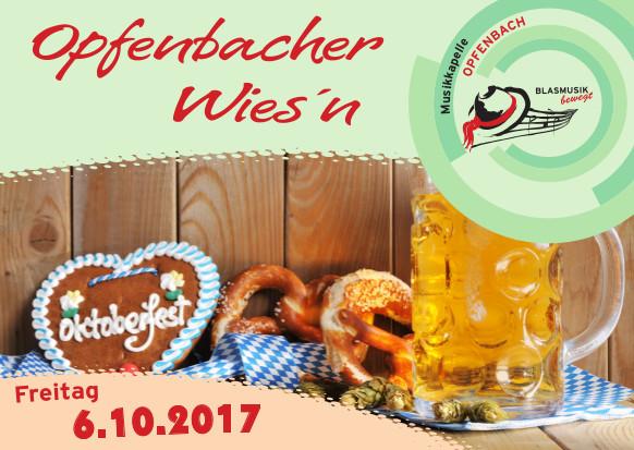 Flyer zur Opfenbacher Wiesn 2017
