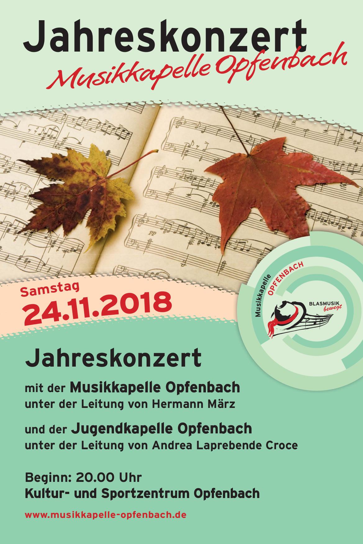 Plakat Jahreskonzert 2018